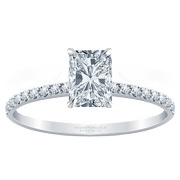 Petite Radiant Diamond Engagement Ring, 1/4 ctw