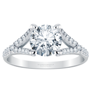 Round Split Diamond Engagement Ring