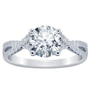 18k Twist Band Engagement Ring 0.25cttw