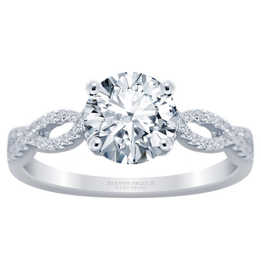 Infinity Diamond Engagement Ring