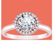 1/5ct tw Plain Shank Halo Engagement Ring
