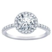 1/3ctw Tiffany Style Halo Engagement Ring Round Diamond