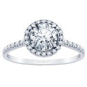 1/3ct tw Tiffany Style Halo Engagement Ring, Claw Prongs