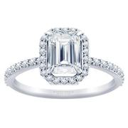 1/3ctw Tiffany Style Halo Engagement Ring Emerald Diamond