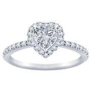 1/3ctw Tiffany Style Halo Engagement Ring Heart Diamond