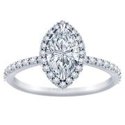 1/3ctw Tiffany Style Halo Engagement Ring Marquise Diamond