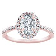 1/3ctw Tiffany Style Halo Engagement Ring Oval Diamond