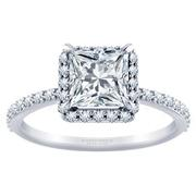 1/3ctw Tiffany Style Halo Engagement Ring Princess Diamond