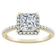 1/3ctw Tiffany Style Halo Engagement Ring Princess Diamond
