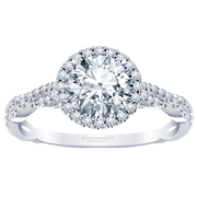 2/5ct.tw. Halo Twist Engagement Ring, Round Diamond