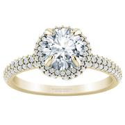 1/2ctw Wrapped Pave Double Halo Engagement Ring
