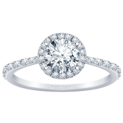 2/5ct.tw. Tapered Halo Diamond Engagement Ring