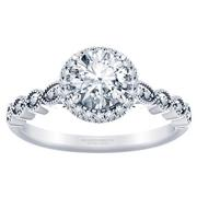 Stackable Diamond Engagement Ring