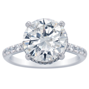 4.09ct Round Diamond Hidden Halo Engagement Ring