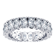 Oval Eternity Diamond Ring