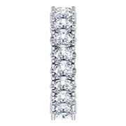 Ladies 14k Oval Eternity Diamond Ring
