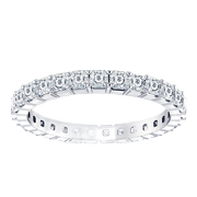Ladies 14k Asscher Eternity Diamond Ring