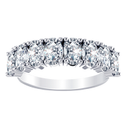 Oval Anniversary Diamond Ring