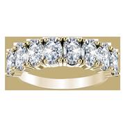 Ladies 14k Oval Anniversary Diamond Ring