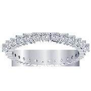 Ladies 14k Round Diamond Eternity Band