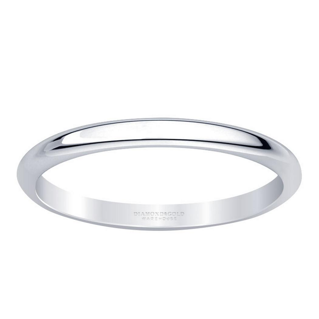2mm Classic Half Round Wedding Band