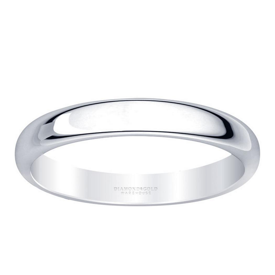3mm Classic Half Round Wedding Band