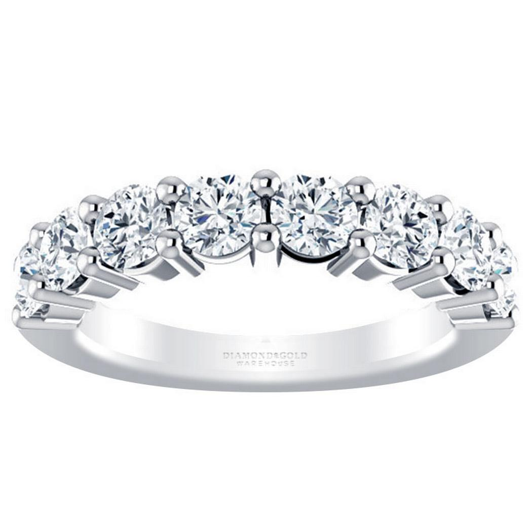 Round Diamond Anniversary Band - 1 5/8crt