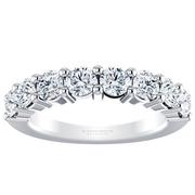 Round Diamond Anniversary Band - 1.25crt
