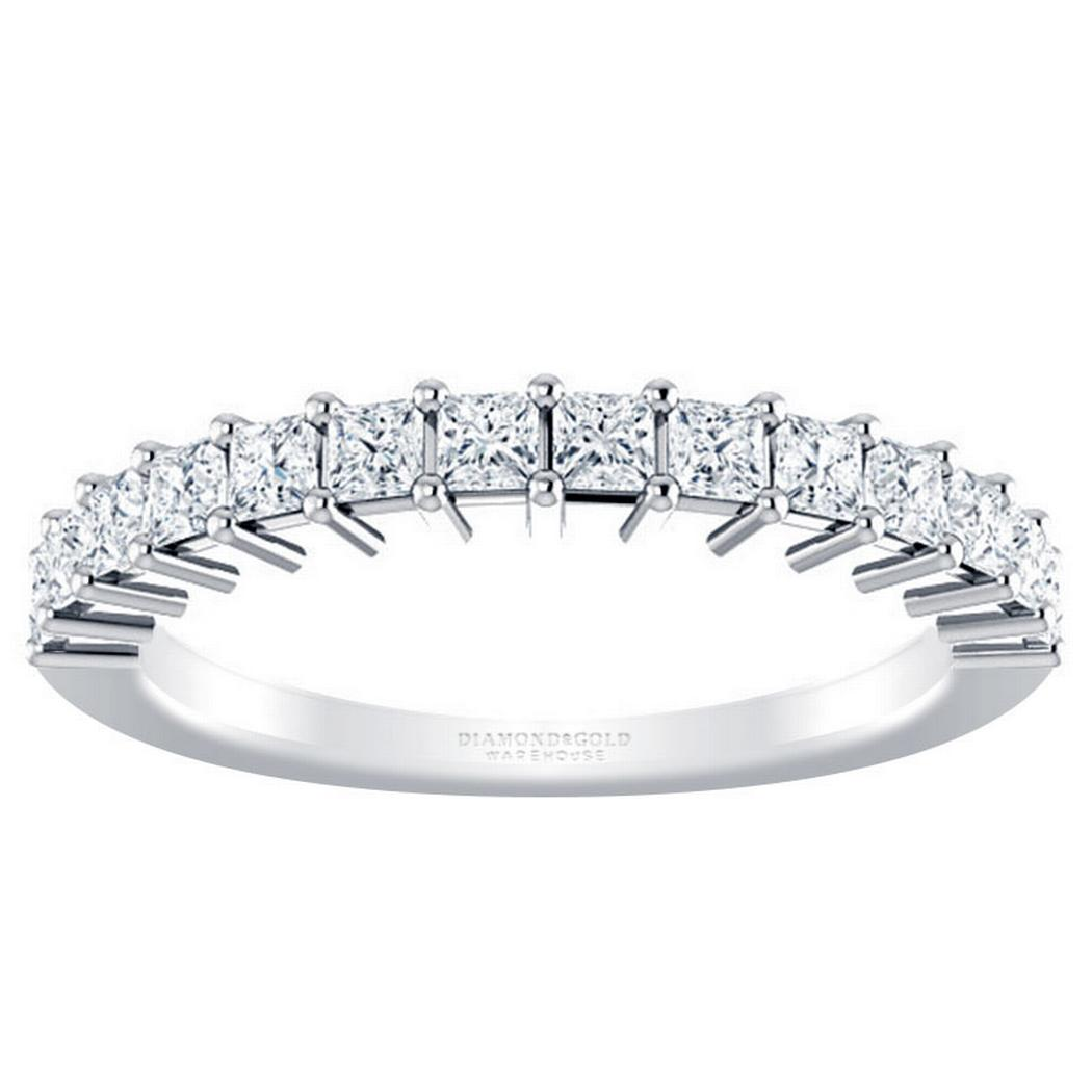 Princess Diamond Anniversary Band 3/4CRT