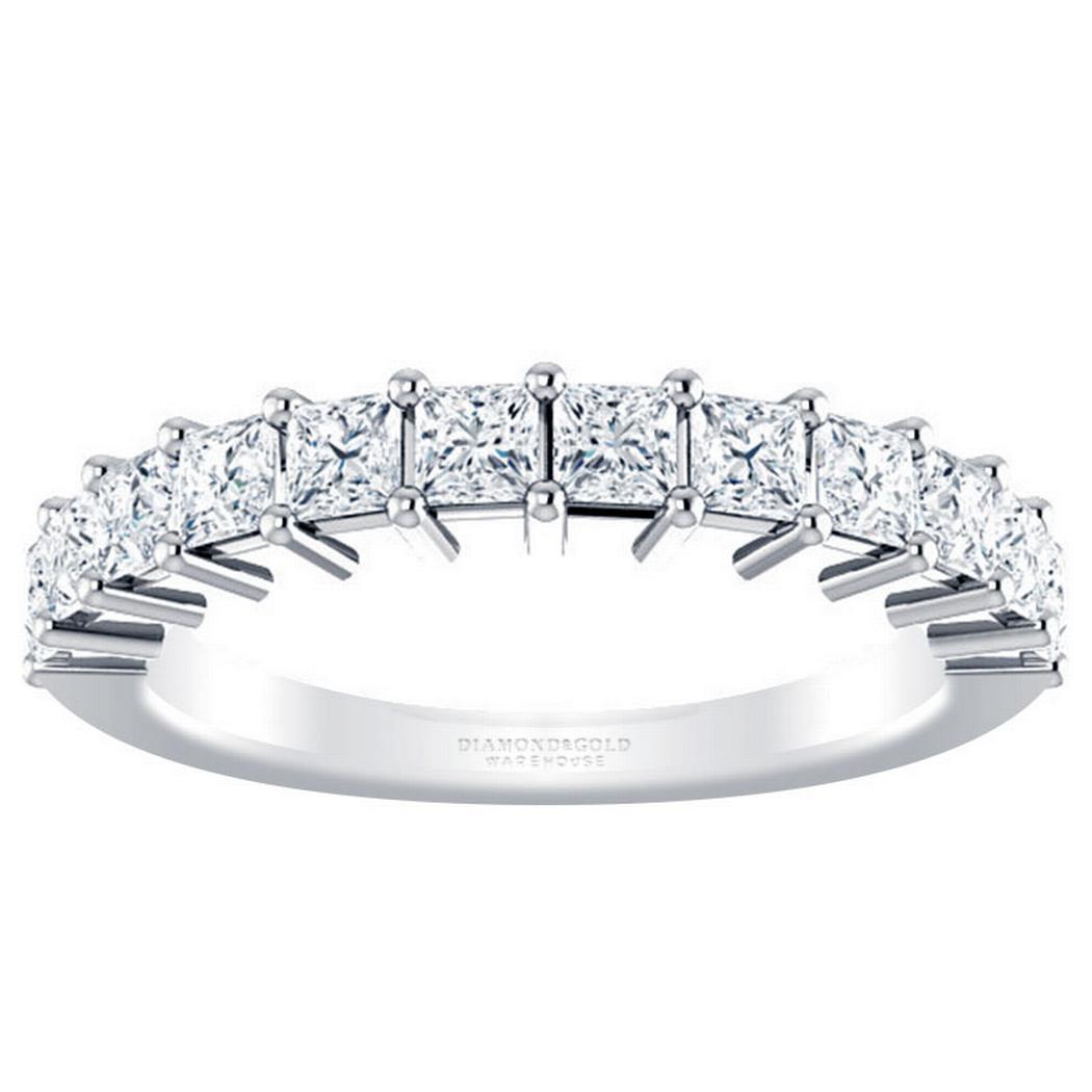 1 1/8 ctw Princess Diamond Anniversary Ring