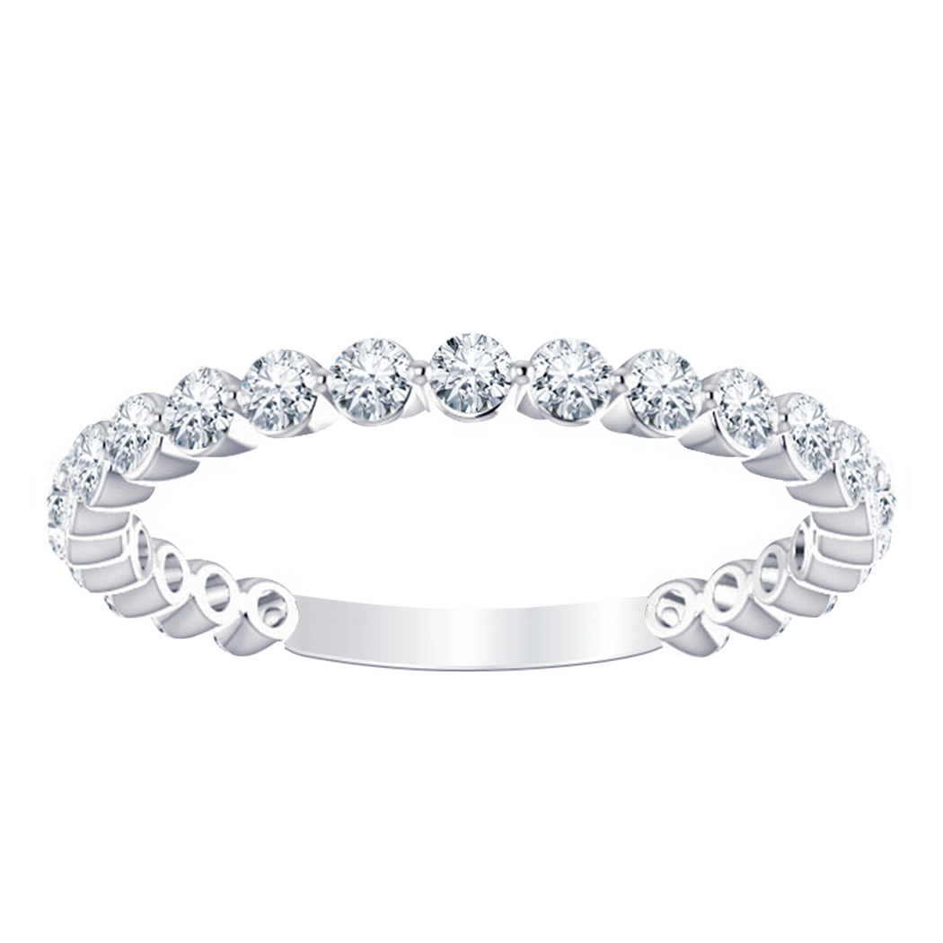 Stackable Diamond Band - Floating Diamonds