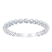 Floating Diamond Stackable Band