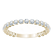 14k Floating Round Diamond Anniversary Band (3/4ctw)