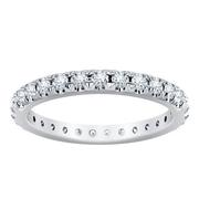 French Pavé Diamond Eternity Band 0.90CRT