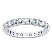 French Pavé Diamond Eternity Band 1.40CRT