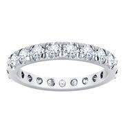 French Pave Diamond Eternity Band 2CRT