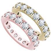 3 3/4ctw French Pavé Diamond Eternity Ring
