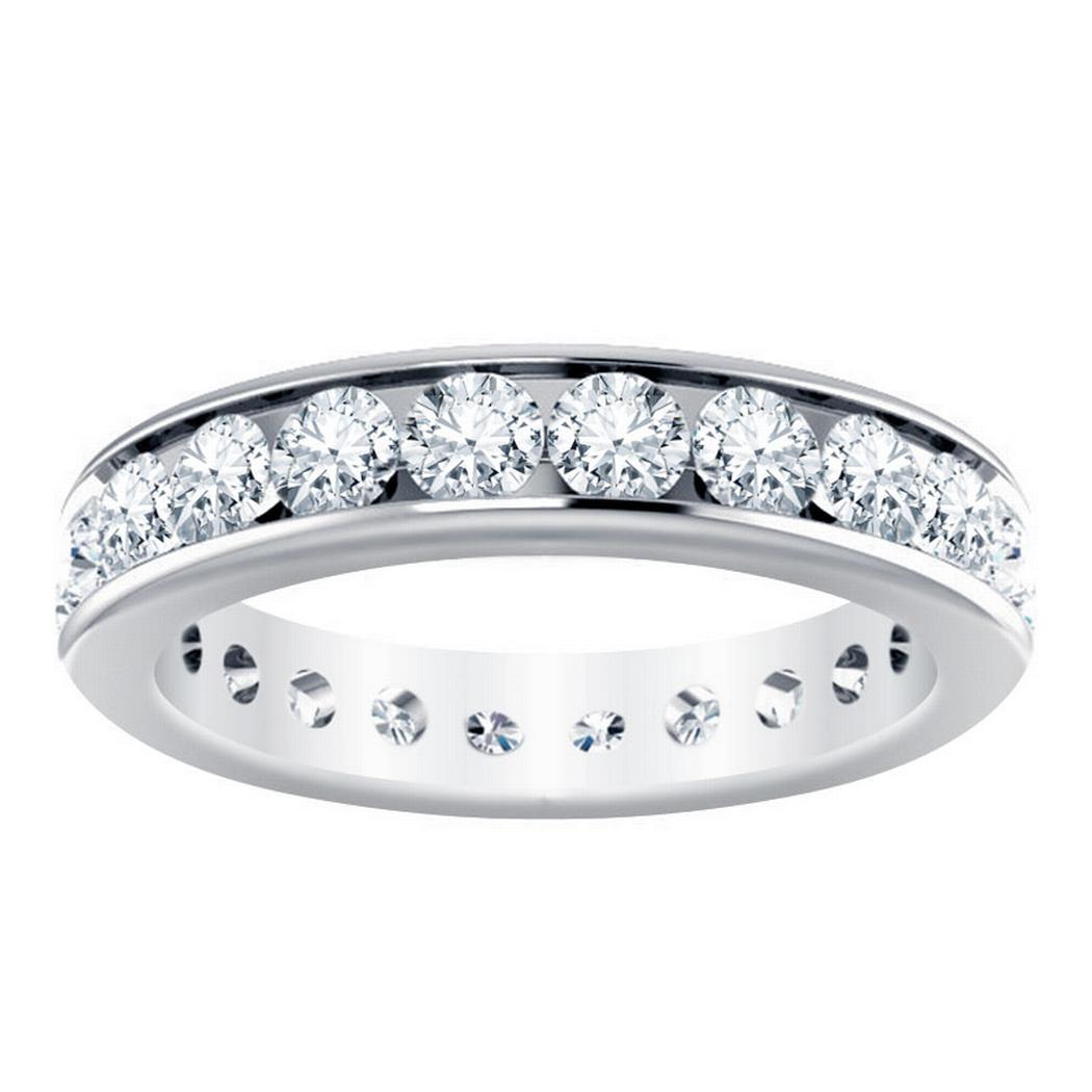 2 1/5ctw Channel Set Diamond Ring