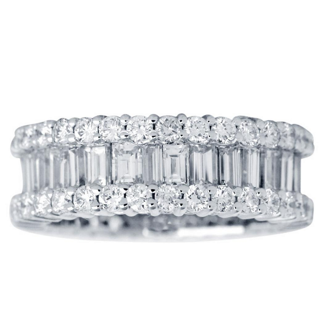 Custom Baguette and Round Diamond Eternity Band