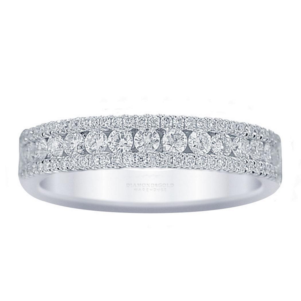 Three Row Diamond Band 0.57ctw