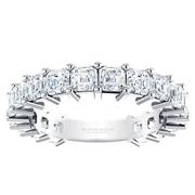 Diamond Asscher Anniversary Band 2 7/8ctw