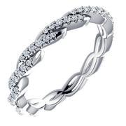Diamond Twisted Eternity Band 1/4ctw