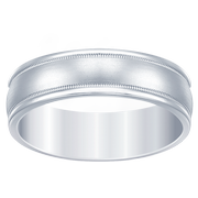 Men's Milgrain Wedding Band