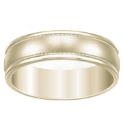 Men's 14k White Gold Milgrain Wedding Ring