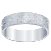 Men's Flat Brushed Wedding Band
