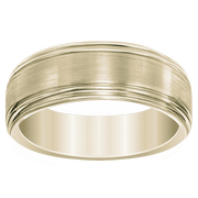 14k Engraved Men's Wedding Band