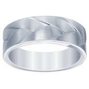 14k Woven Satin Finish Men's Wedding Ring