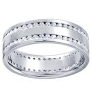 1 1/8ctw Diamond Flat Comfort Fit Band Men's Band