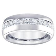 Princess Diamond Channel Set Band 8mm Wide