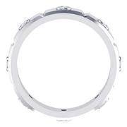 Grooved Round Bezel Eternity Band, 5mm Wide